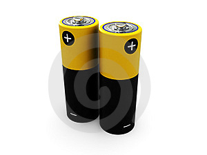 Two Battery Royalty Free Stock Photos - Image: 8131648
