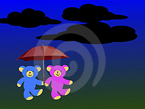 Mr And Mrs Teddy Bear Royalty Free Stock Photo - Image: 8135595