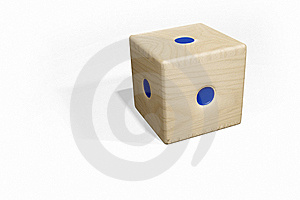 Low Dice - Blue Royalty Free Stock Images - Image: 8136199