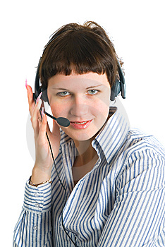 The Employee Of The Call Center Stock Photo - Image: 8136370