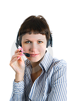 The Employee Of The Call Center Royalty Free Stock Images - Image: 8136379