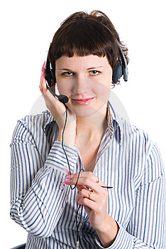 The Employee Of The Call Center Stock Images - Image: 8136414