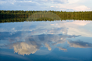 Lake And Wood Royalty Free Stock Image - Image: 8136666