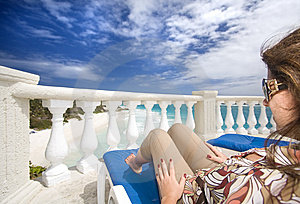 Sun Lounger Stock Images - Image: 8136714