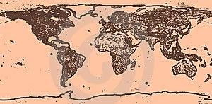 Vintage World Map Royalty Free Stock Image - Image: 8137026