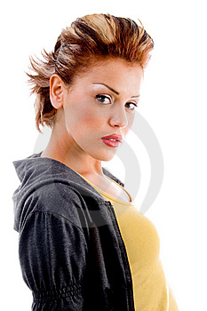 Side Pose Of Young Model Royalty Free Stock Photo - Image: 8137945