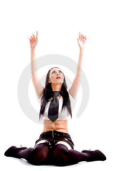Sexy Fashionable Woman In Mini Skirt Royalty Free Stock Photo - Image: 8138255