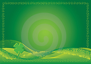St. Patrick's Day Background With Blend Lines Stock Photo - Image: 8138660