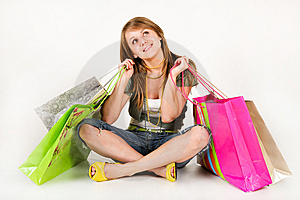 Shopping Beauty Woman Royalty Free Stock Photography - Image: 8138717