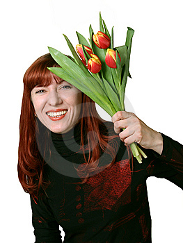 Bouquet From Tulips In A Gift Stock Images - Image: 8139304