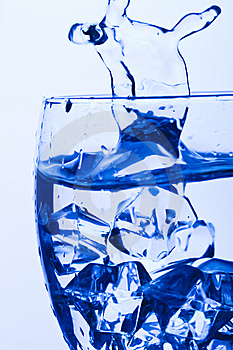Blue Glass Stock Photo - Image: 8139900