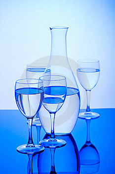 Blue Glass Royalty Free Stock Photo - Image: 8139955