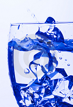 Blue Glass Royalty Free Stock Photography - Image: 8140017