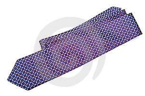 Blue Checked Silk Necktie Royalty Free Stock Photography - Image: 8140977