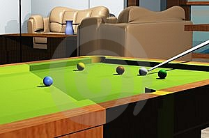Snooker Room Royalty Free Stock Photos - Image: 8141798