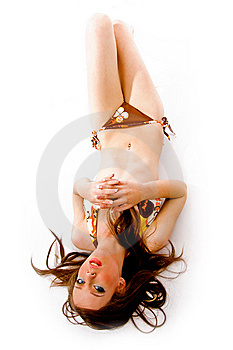 Top View Of Young Sensual Female Royalty Free Stock Photography - Image: 8141807
