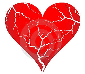 Cracked heart