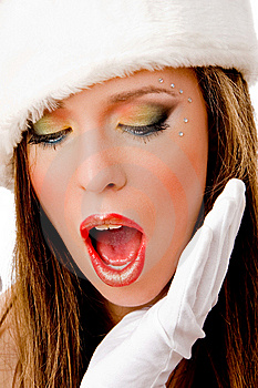 Close View Of Shocked Female Royalty Free Stock Images - Image: 8142679