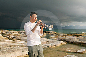 Trumpet Stock Photo - Image: 8142960