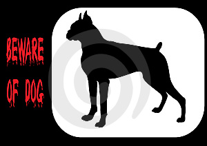 Beware Of Dog Royalty Free Stock Photos - Image: 8143028