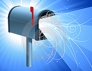 Mailbox With Light Royalty Free Stock Photography - Image: 8143117