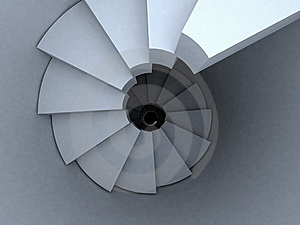 Spiral Stairway Top View Stock Image - Image: 8143571