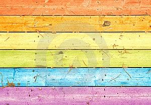 Bordi colorati legno Immagine Stock Libera da Diritti