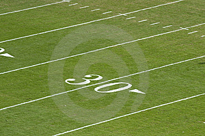 30 Yard Line Royalty Free Stock Photos - Image: 8144898