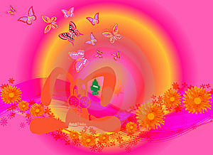 Butterflies All Around 10 Royalty Free Stock Photos - Image: 8146088