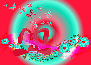 Butterflies All Around 8 Royalty Free Stock Image - Image: 8146106