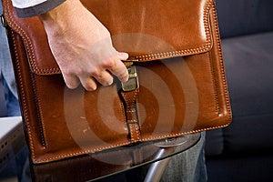 Brown Leather Bag Stock Image - Image: 8146431