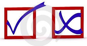 Check And Cross Stock Image - Image: 8146481