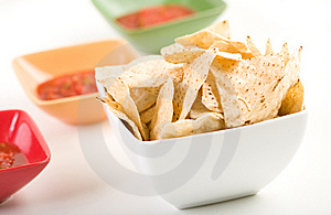 Tortilla Chips And Salsa Royalty Free Stock Photo - Image: 8146655