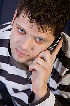 Young Man With Cellphone Royalty Free Stock Photos - Image: 8147018