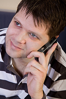 Young Man With Cellphone Stock Photos - Image: 8147053