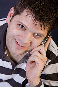 Young Man With Cellphone Royalty Free Stock Photo - Image: 8147135