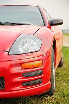 κόκκινος αθλητισμός αυτοκινήτων Στοκ Εικόνες - εικόνα: 8147304