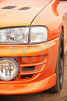 Orange Sport Car. Royalty Free Stock Images - Image: 8147499