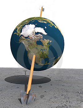 Earth Hit Stock Images - Image: 8148174