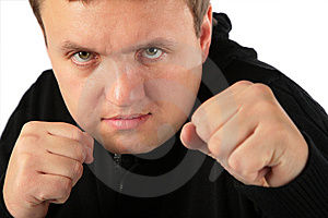 Man Prepared For Protection Royalty Free Stock Photos - Image: 8148198