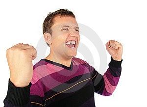 Man Celebrates A Victory Stock Photography - Image: 8148312