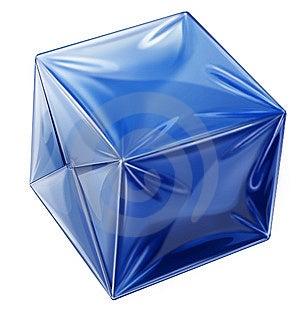 Plastic' Cube Stock Image - Image: 8149461