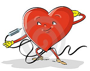 Comic's  Colorful Illustration Of A Heart Stock Image - Image: 8149471