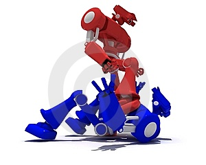 Red Robot Stock Photos - Image: 8150333