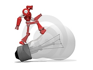 Red Robot Royalty Free Stock Photo - Image: 8150355