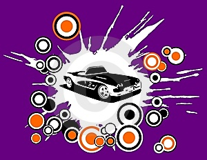 Retro Disco Car Stock Photos - Image: 8150373