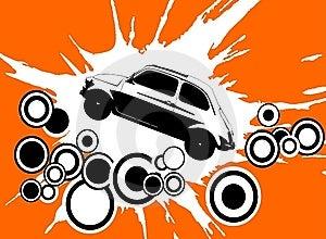Retro Disco Car Stock Photo - Image: 8150400