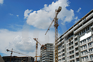 Cranes Royalty Free Stock Images - Image: 8151669
