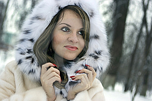 Lady In Fur Royalty Free Stock Photography - Image: 8151707