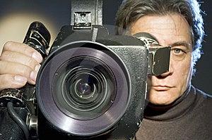 Cameraman  And Camera. Stock Photography - Image: 8152102